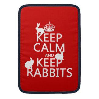 Mantenga tranquilo y guarde los conejos - todos lo fundas macbook air