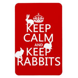 Mantenga tranquilo y guarde los conejos - todos lo imán de vinilo