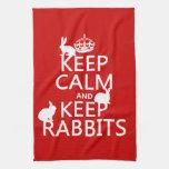 Mantenga tranquilo y guarde los conejos - todos lo toallas de mano