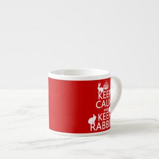 Mantenga tranquilo y guarde los conejos - todos lo taza espresso