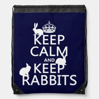 Mantenga tranquilo y guarde los conejos - todos mochilas