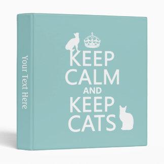 """Mantenga tranquilo y guarde los gatos carpeta 1"""""""