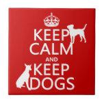 Mantenga tranquilo y guarde los perros - todos los azulejo cerámica