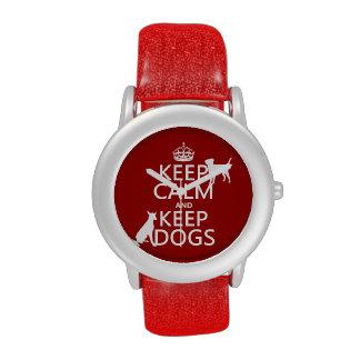Mantenga tranquilo y guarde los perros - todos los relojes de mano