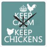 Mantenga tranquilo y guarde los pollos (cualquier  reloj