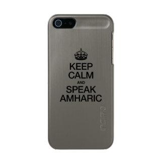 MANTENGA TRANQUILO Y HABLE EL AMHARIC FUNDA PARA iPhone 5 INCIPIO FEATHER SHINE