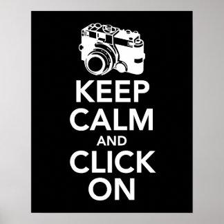 Mantenga tranquilo y haga clic en la impresión de impresiones
