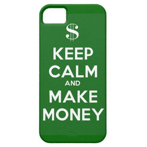 Mantenga tranquilo y haga el dinero funda para iPhone 5 barely there