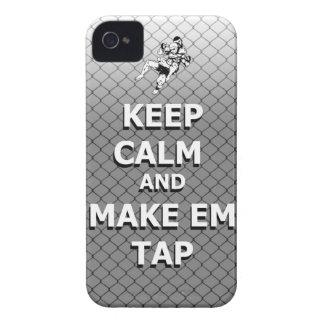 mantenga tranquilo y haga el golpecito del em iPhone 4 Case-Mate cárcasas