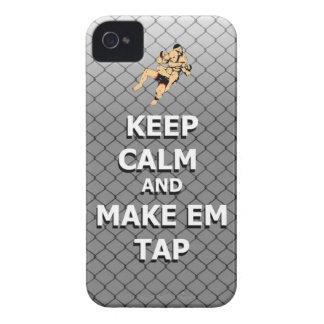 mantenga tranquilo y haga el golpecito del em iPhone 4 Case-Mate fundas