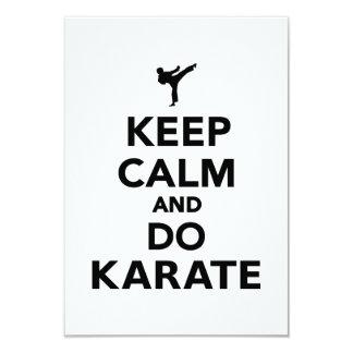 Mantenga tranquilo y haga el karate