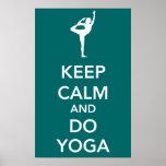 Mantenga tranquilo y haga el poster de la yoga