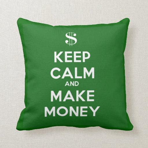 Mantenga tranquilo y haga la almohada del dinero