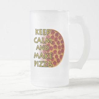 Mantenga tranquilo y haga la pizza taza