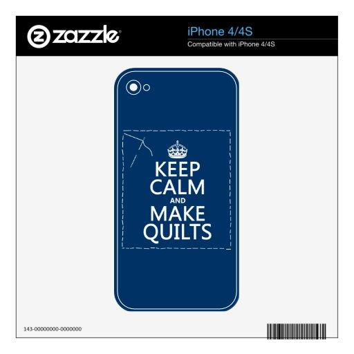 Mantenga tranquilo y haga los edredones (todos los skins para eliPhone 4S