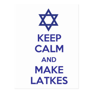 Mantenga tranquilo y haga los Latkes Tarjetas Postales