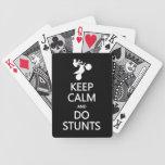 Mantenga tranquilo y haga los naipes de encargo de barajas de cartas