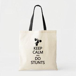 Mantenga tranquilo y haga los trucos empaquetan -  bolsa tela barata