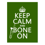 Mantenga tranquilo y 'hueso en (trombone - cualqui tarjeta postal