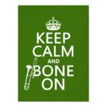 Mantenga tranquilo y 'hueso en (trombone - invitación 13,9 x 19,0 cm