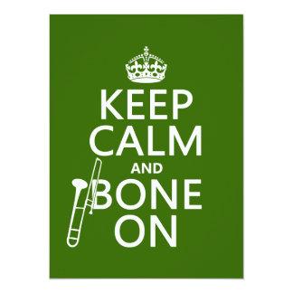 Mantenga tranquilo y 'hueso en (trombone -
