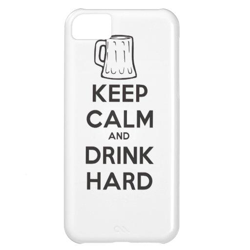 mantenga tranquilo y la bebida hard.ai