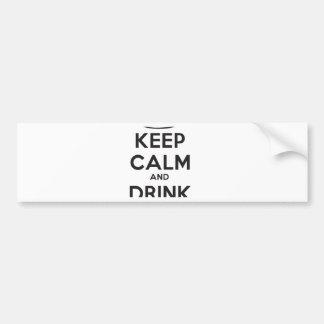 mantenga tranquilo y la bebida hard.ai pegatina para auto