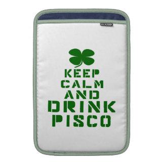 Mantenga tranquilo y la bebida Pisco. Funda Para Macbook Air