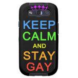 Mantenga tranquilo y la estancia Samsung gay encaj Galaxy S3 Carcasa