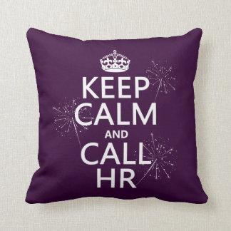 Mantenga tranquilo y la llamada hora (cualquier co almohadas