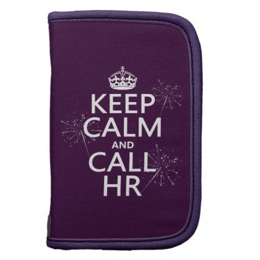 Mantenga tranquilo y la llamada hora (cualquier co planificador