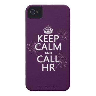 Mantenga tranquilo y la llamada hora cualquier co iPhone 4 funda