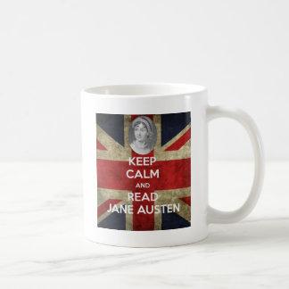 Mantenga tranquilo y lea a Jane Austen Taza De Café