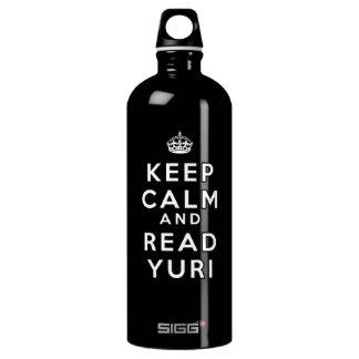 Mantenga tranquilo y lea a Yuri