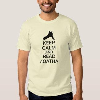 Mantenga tranquilo y lea Agatha Camisas