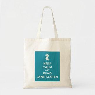 Mantenga tranquilo y lea el bolso de compras de Ja Bolsa Tela Barata
