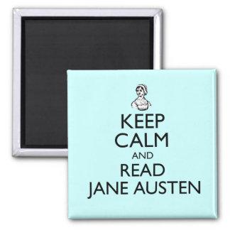 Mantenga tranquilo y lea el imán de Jane Austen