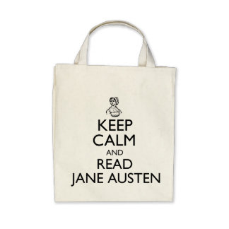 Mantenga tranquilo y lea la bolsa de asas de Jane