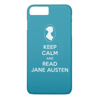 Mantenga tranquilo y lea la silueta del camafeo de funda iPhone 7 plus