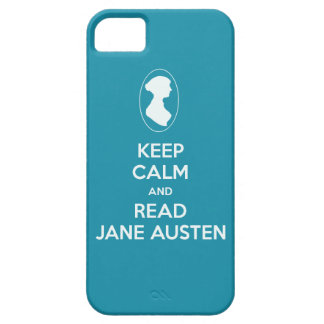 Mantenga tranquilo y lea la silueta del camafeo de iPhone 5 funda