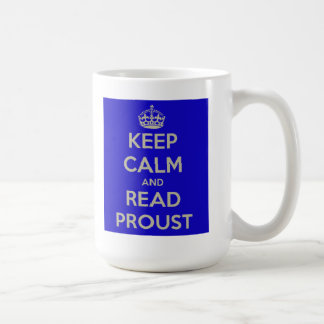 Mantenga tranquilo y lea la taza de Proust