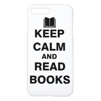 Mantenga tranquilo y lea los libros funda para iPhone 7 plus