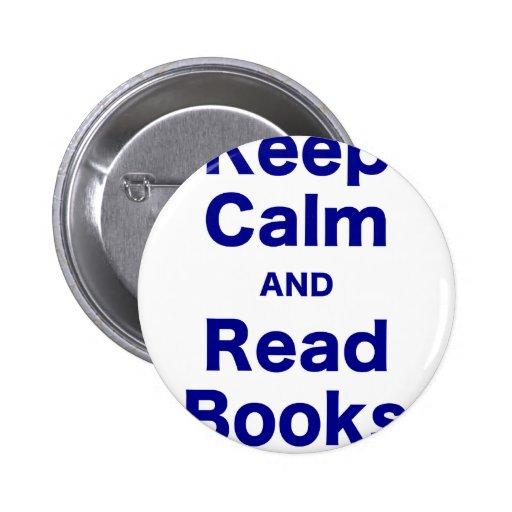 Mantenga tranquilo y lea los libros pin