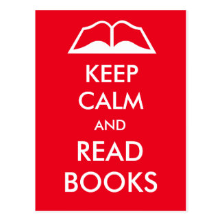Mantenga tranquilo y lea los libros postal