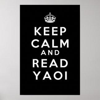 Mantenga tranquilo y lea Yaoi Posters