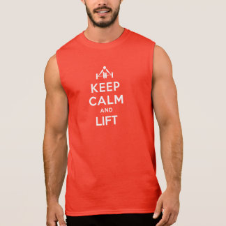 Mantenga tranquilo y levante la camiseta del múscu