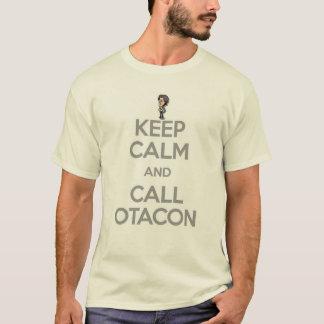 Mantenga tranquilo y llamada Otacon Playera