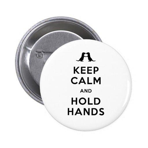 Mantenga tranquilo y lleve a cabo las manos (las n pin