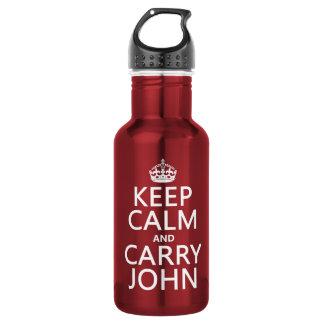 Mantenga tranquilo y lleve a Juan (cualquier