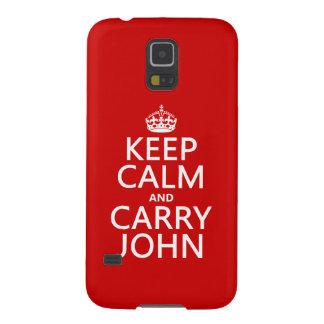 Mantenga tranquilo y lleve a Juan (cualquier Funda Para Galaxy S5